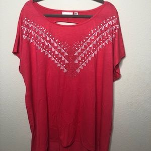 Plus Size Pink Studded Top